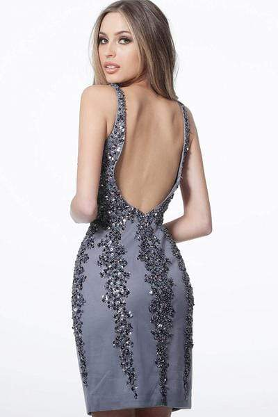Jovani - 2530 Multi Embellished Sleeveless Cocktail Dress Party Dresses