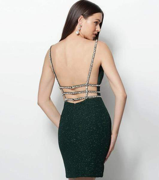 Jovani - 61628 Strappy Plunging V-Neck Cocktail Dress Special Occasion Dress