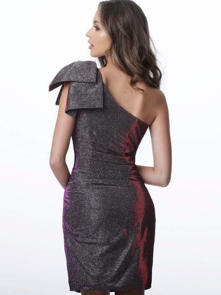 Jovani - JVN2132 Asymmetrical Bowed Cocktail Dress Special Occasion Dress
