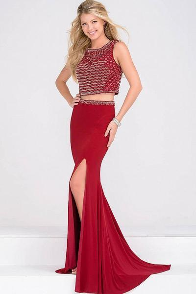 Jovani - JVN49602SC Two-Piece Beaded Sleeveless Bodice Dress