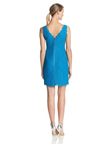Adrianna Papell - Bateau Neck Lace Sheath Dress 41871750 in Blue