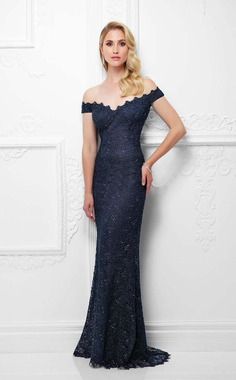 Montage by Mon Cheri - 117920 Fit And Flare Gown in Black