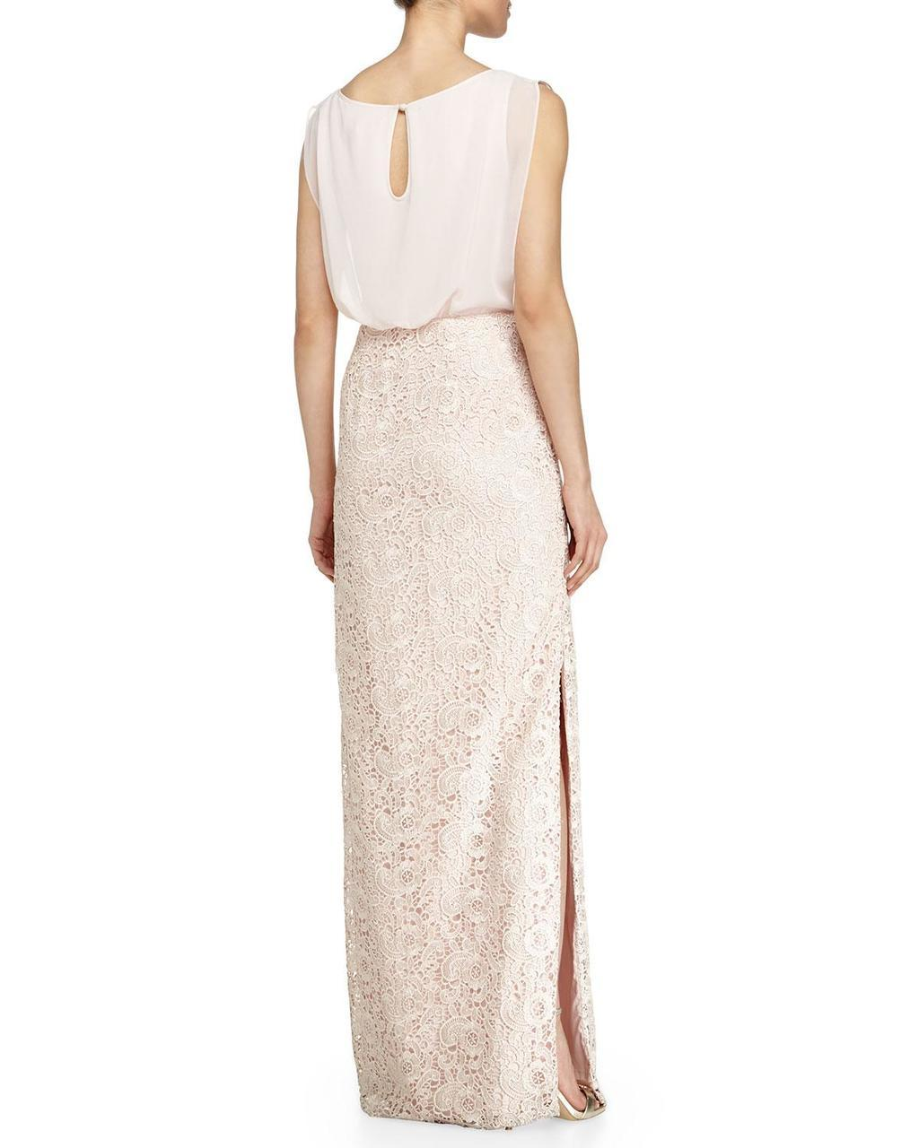 Aidan Mattox - Sleeveless Lace Long Dress 251704760 in Neutral