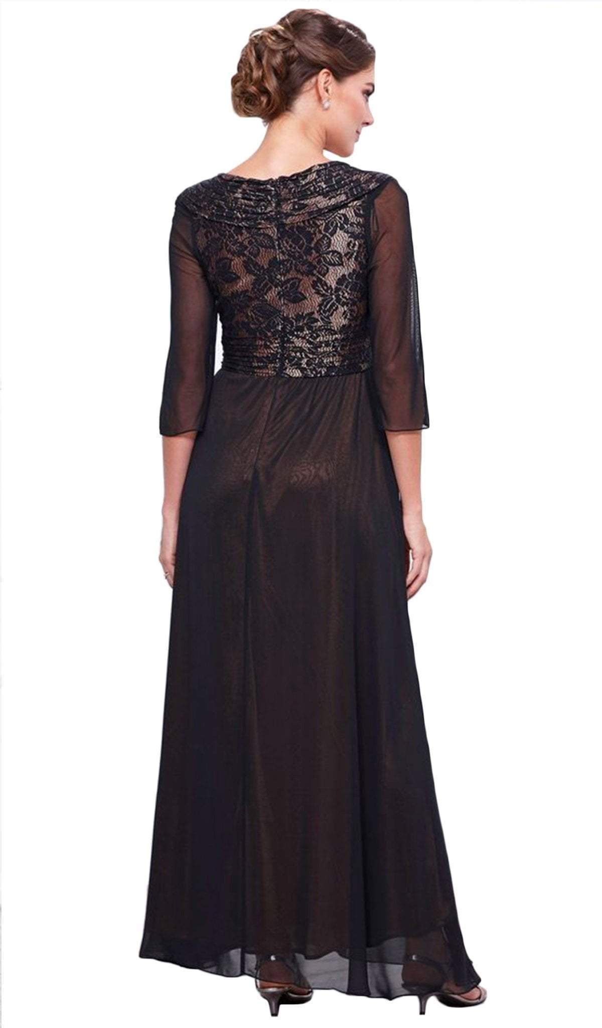 Nox Anabel - V-Neck Empire A-line Dress 5126SC