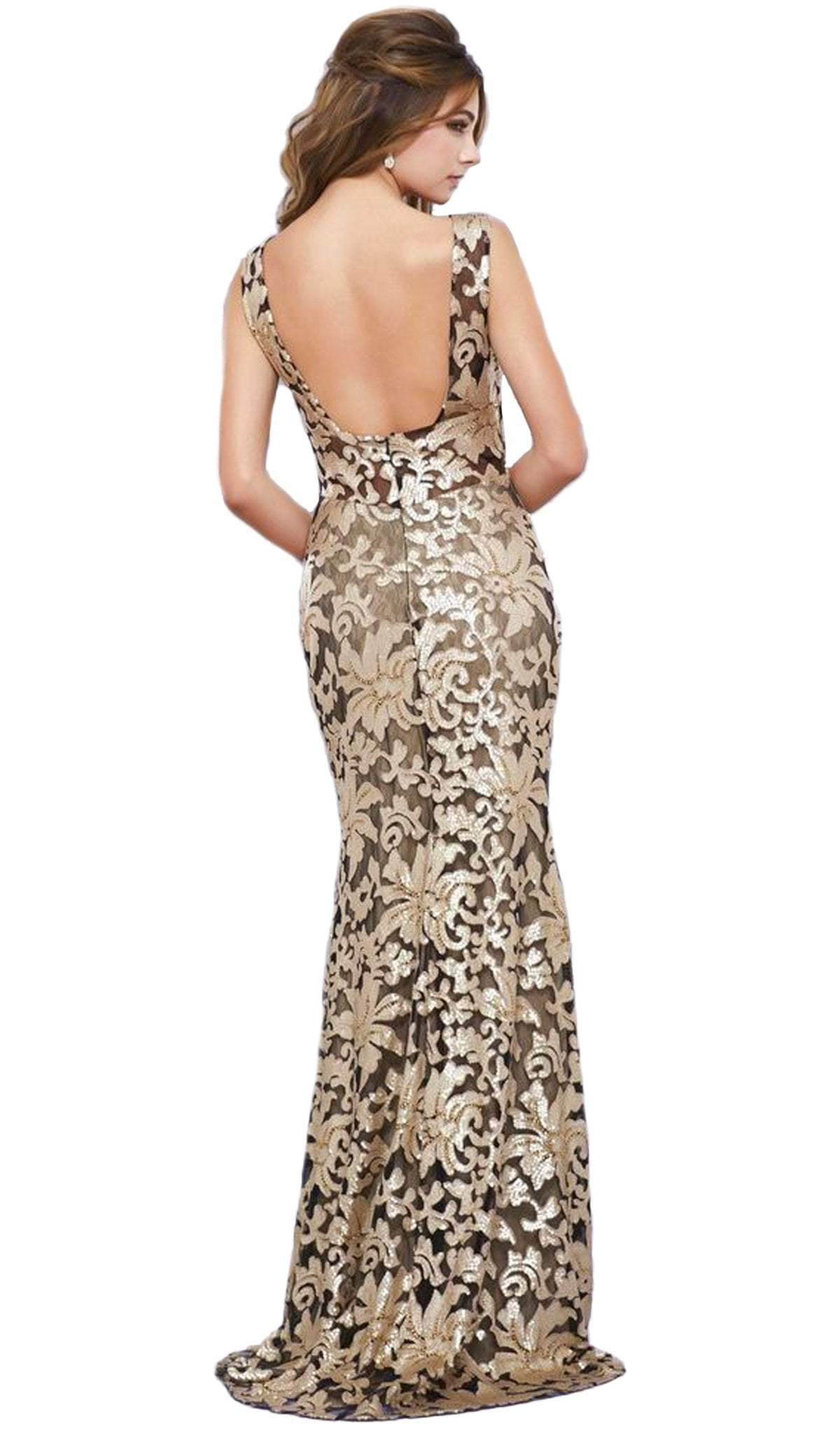 Nox Anabel - Sequined Lace Evening Dress 8260SC