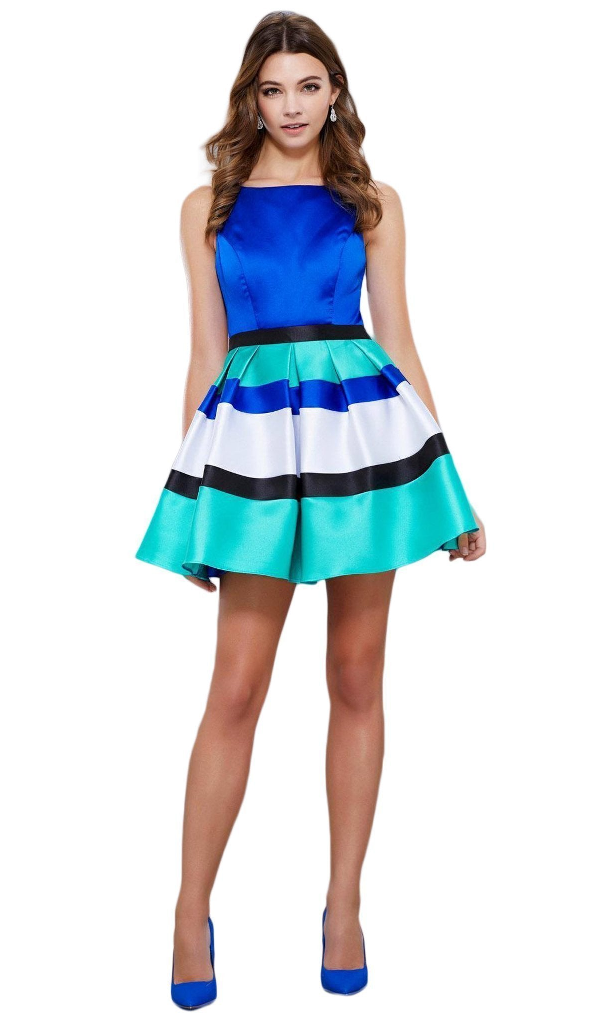 Nox Anabel - Bateau Mikado Short A-line Dress 6282SC