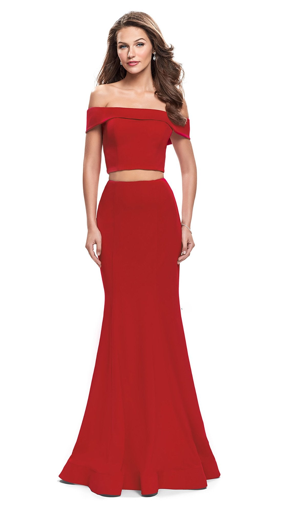 La Femme - 25578SC Two-Piece Off Shoulder Mermaid Dress