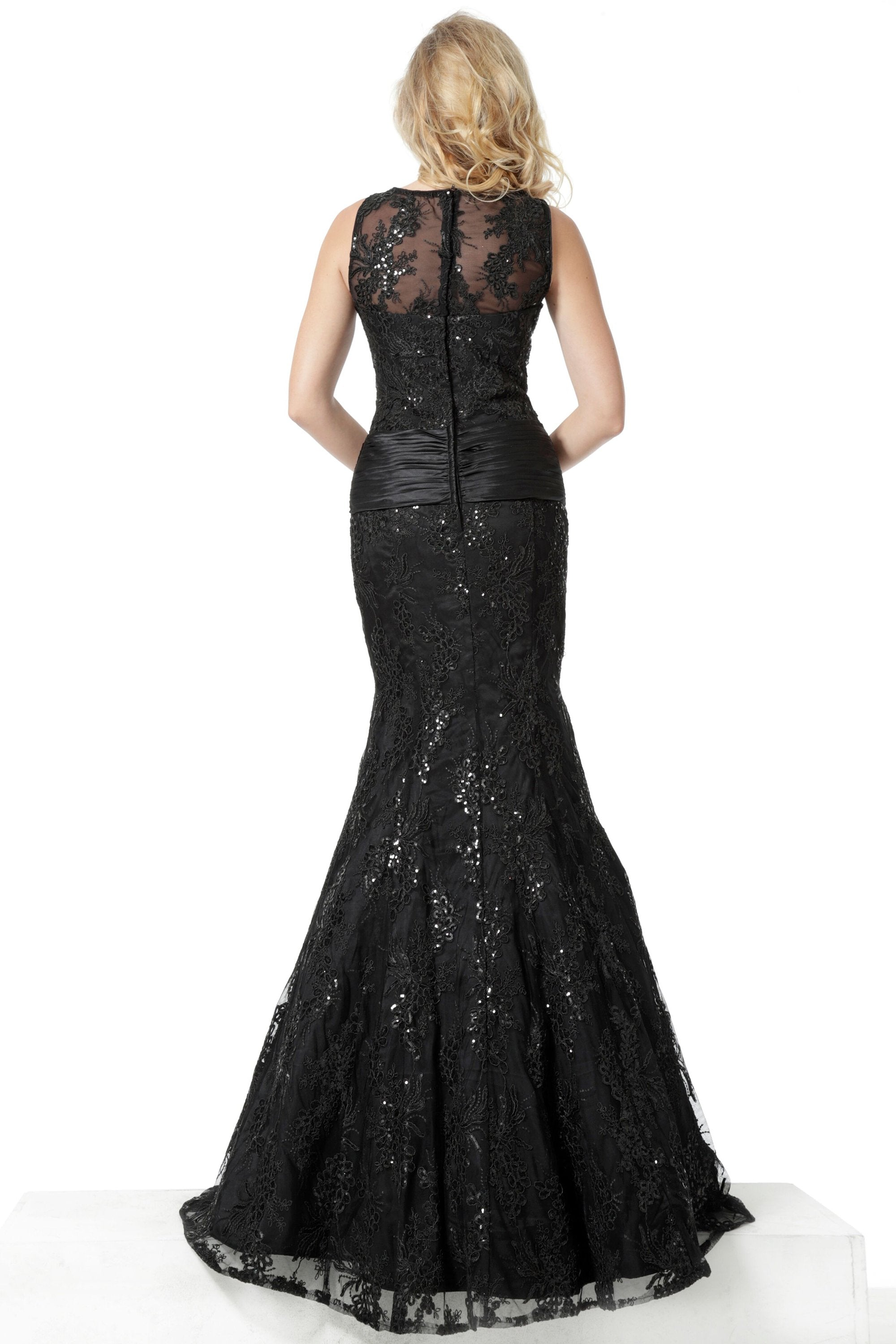 Jovani - 62831 Sequin Embroidered Trumpet Gown In Black
