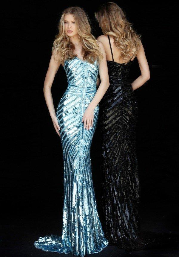 Sherri Hill - 51206SC Long Geo-Sequined Mermaid Gown