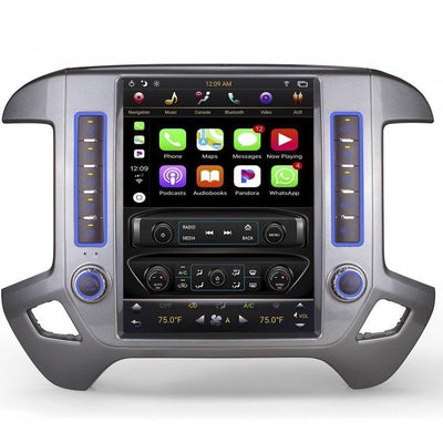 "For 2014-2018 Chevrolet Silverado GMC Sierra 12.1"" Tesla-Style Fast Boot Radio Stereo Android GPS NAVI in-Dash Unit Bluetooth Wi-Fi - CARSOLL"