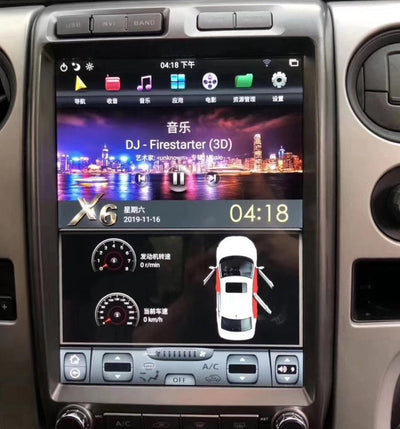 "2009-2014 Ford F150 13"" Tesla-Style Radio Stereo Android 9 CarPlay GPS NAVI in-Dash Unit Bluetooth Wi-Fi - CARSOLL"