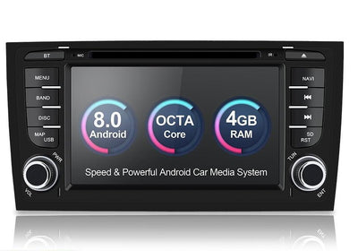 Audi/A6/S6/RS6 Multimedia Player Car Radio Two Din Android 8.0 Stereo System For GPS RAM 4GB USB DVR OBD2 FM
