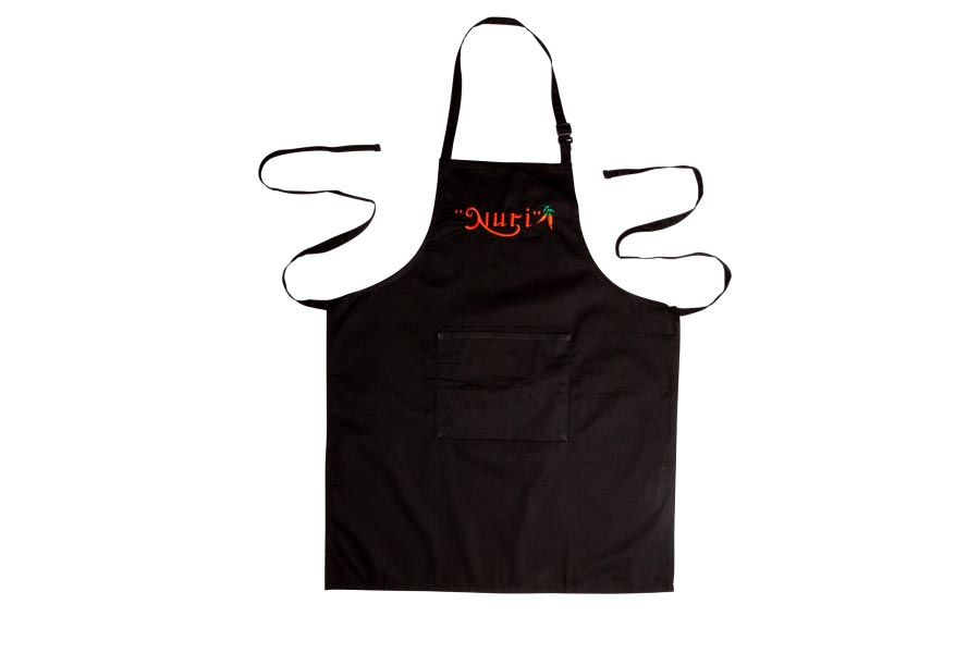 Nuri Cooking Apron in  black