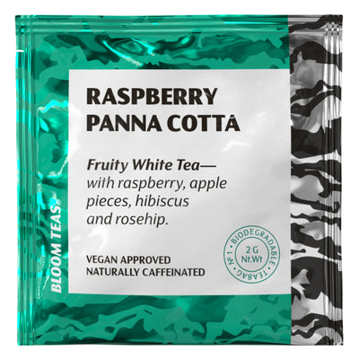 Raspberry Panna Cotta 1 Tea Bag Sachet Front