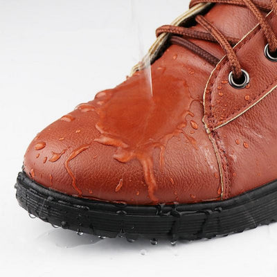 Men's Casual Lace-Up Leather Boots