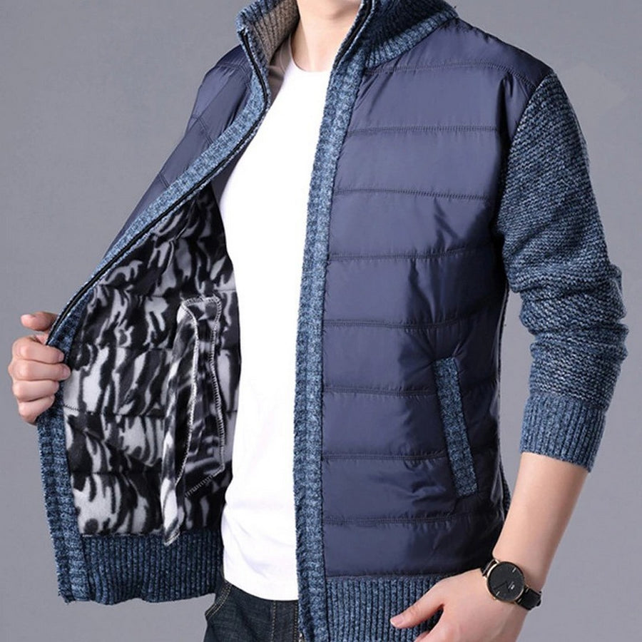 Men's Long-Sleeve Zip-Up Cardigan