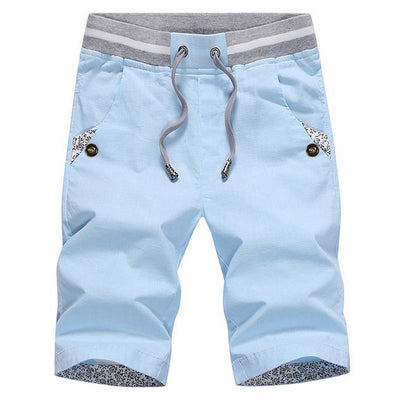 Men's Solid Drawstring Shorts