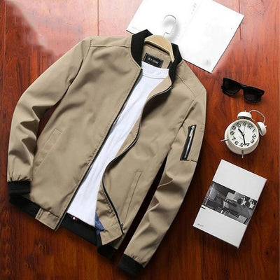 Men's Casual Long-Sleeve Bomber Jacket