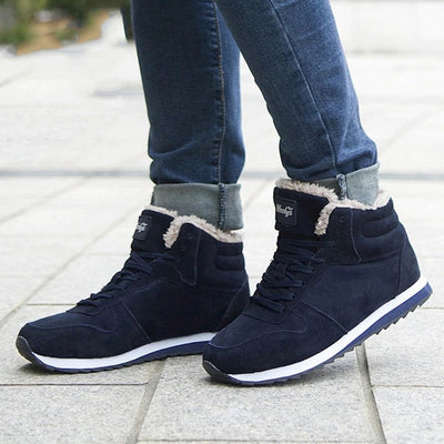 Men's Casual Lace-Up Warm Boots