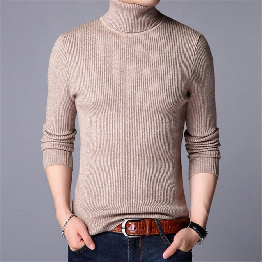 Men's Turtleneck Long-Sleeve Sweater