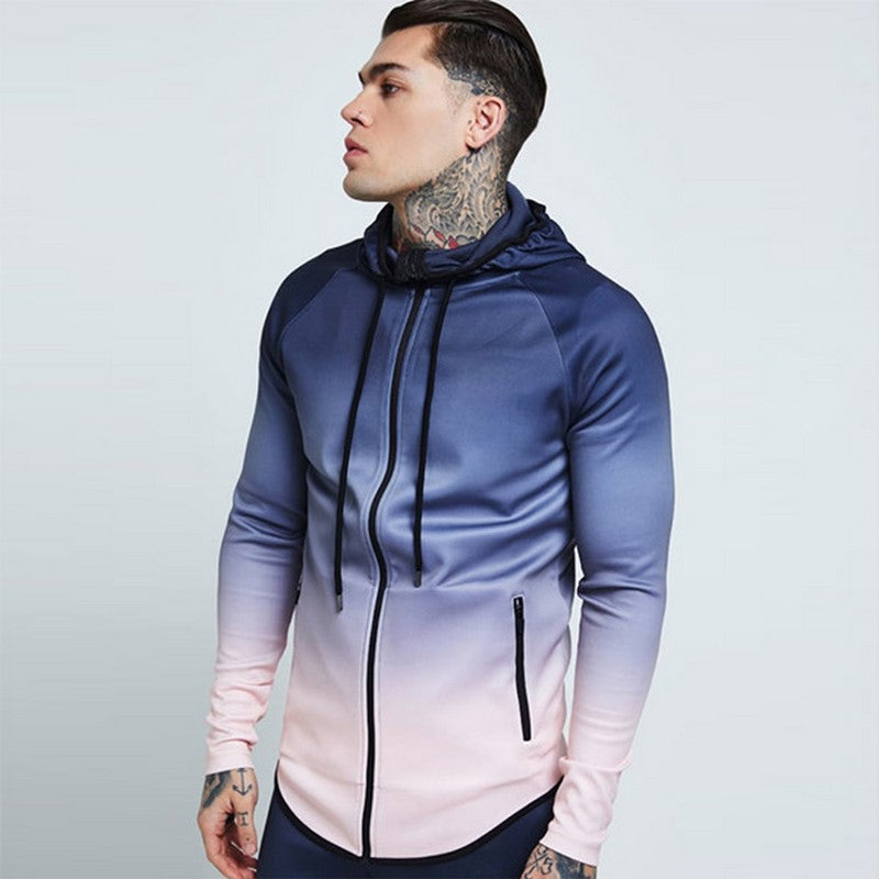 Men's Gradient Hooded Sweatshirt