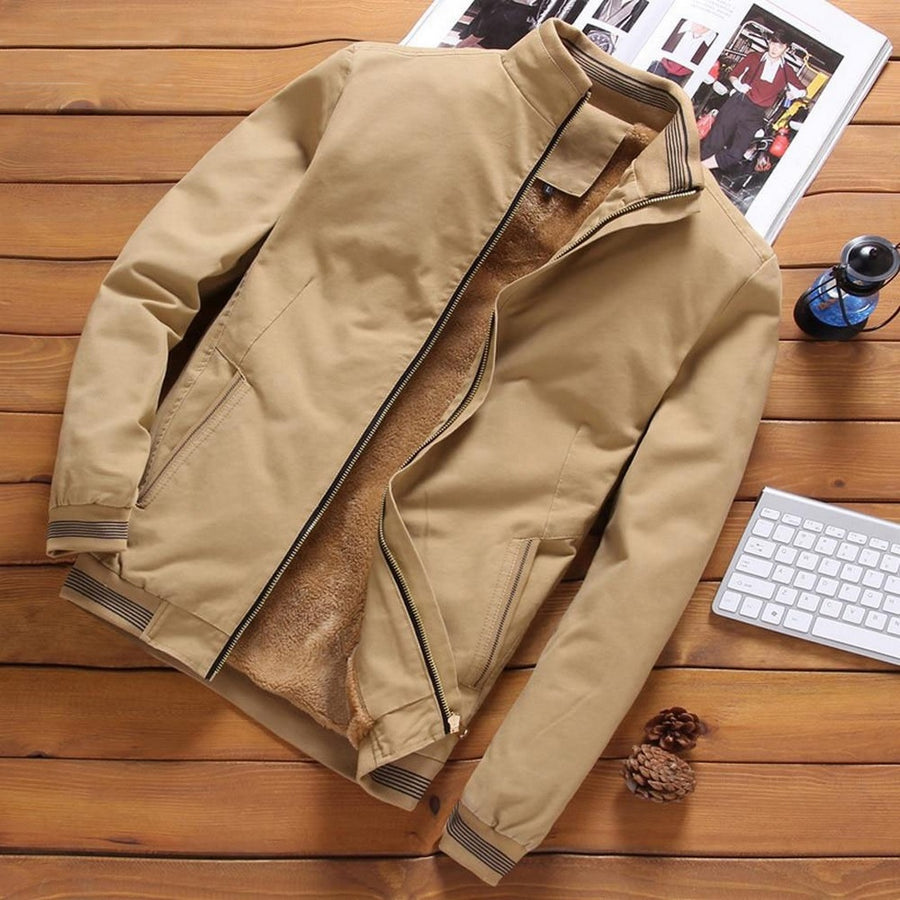 Men's Casual Zip-Up Bomber Jacket