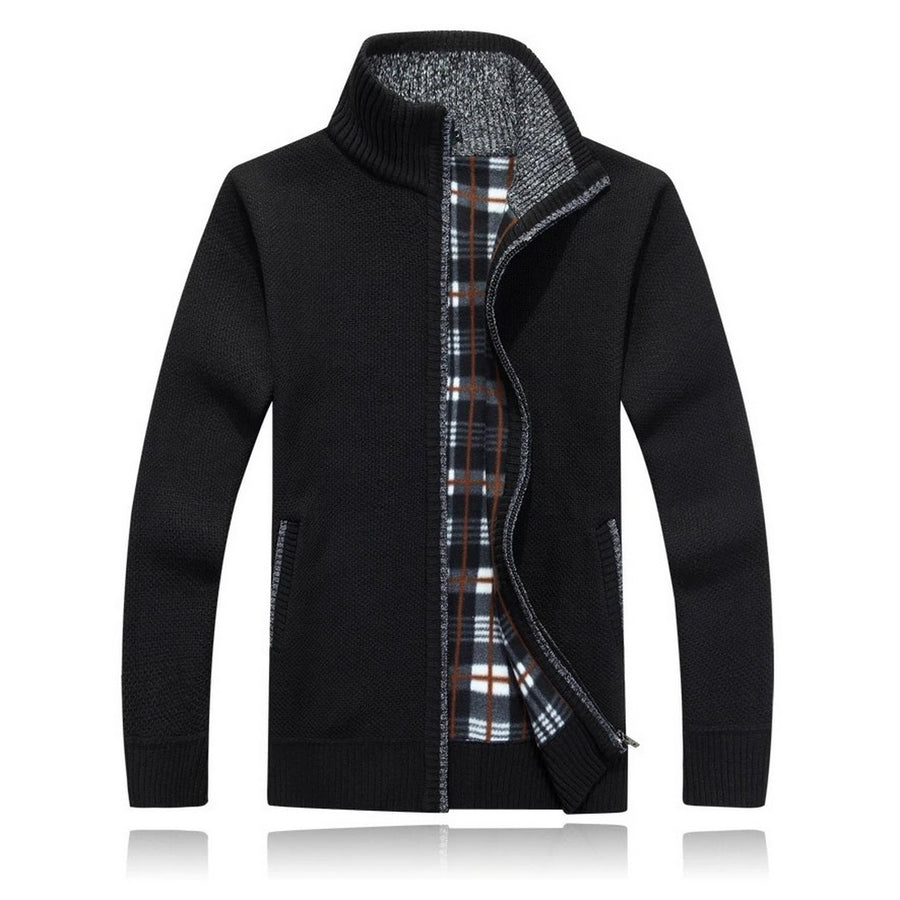 Men's Casual Long-Sleeve Zip-Up Sweater