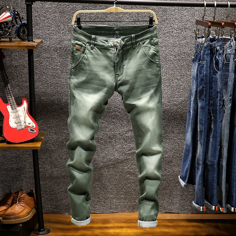 Men's Casual Mid-Waist Jeans