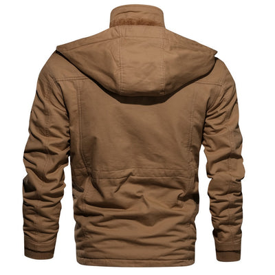 Men's Long-Sleeve Hooded Jacket