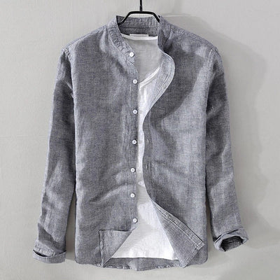 Men's Casual Long-Sleeve Button-Down Shirt
