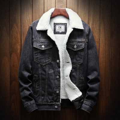 Men's Long-Sleeve Denim Jacket