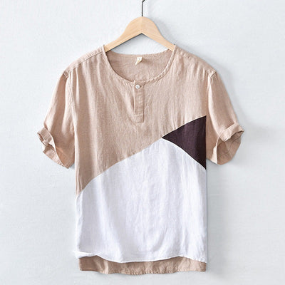 Men's Patchwork Short-Sleeve T-shirt