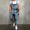 Men's Ripped Denim Overalls