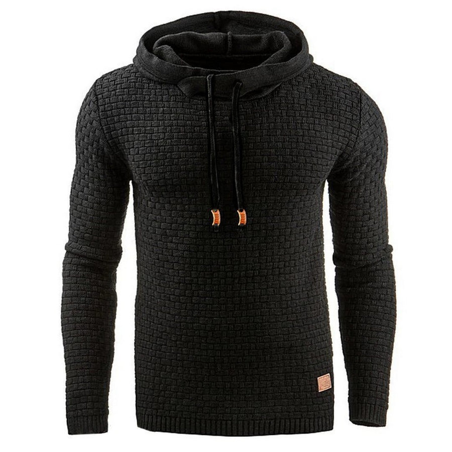 Men's Casual Slim-Fit Hooded Sweatshirt