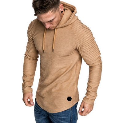 Men's Textured Hooded Sweatshirt