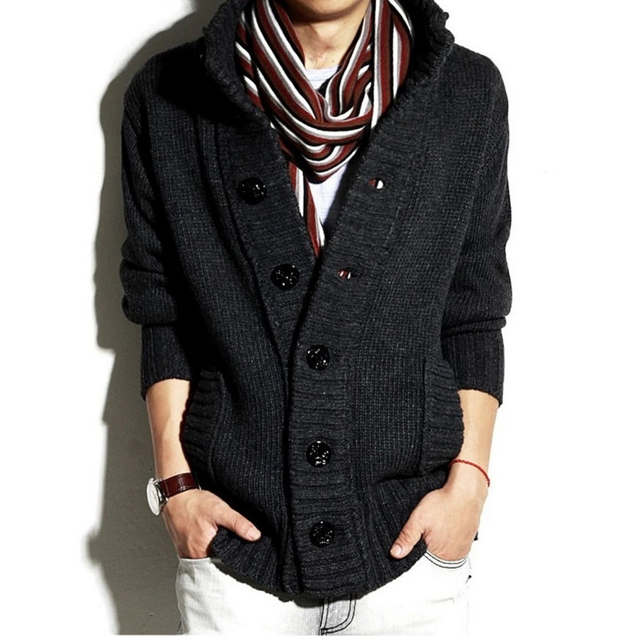 Men's Button-Front Cardigan