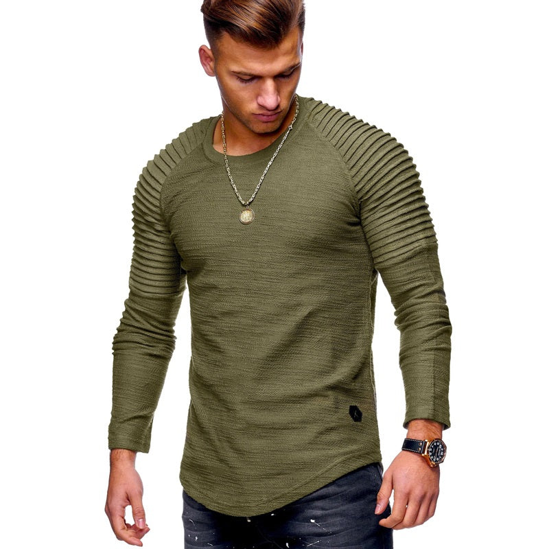 Men's Textured Long-Sleeve Sweatshirt
