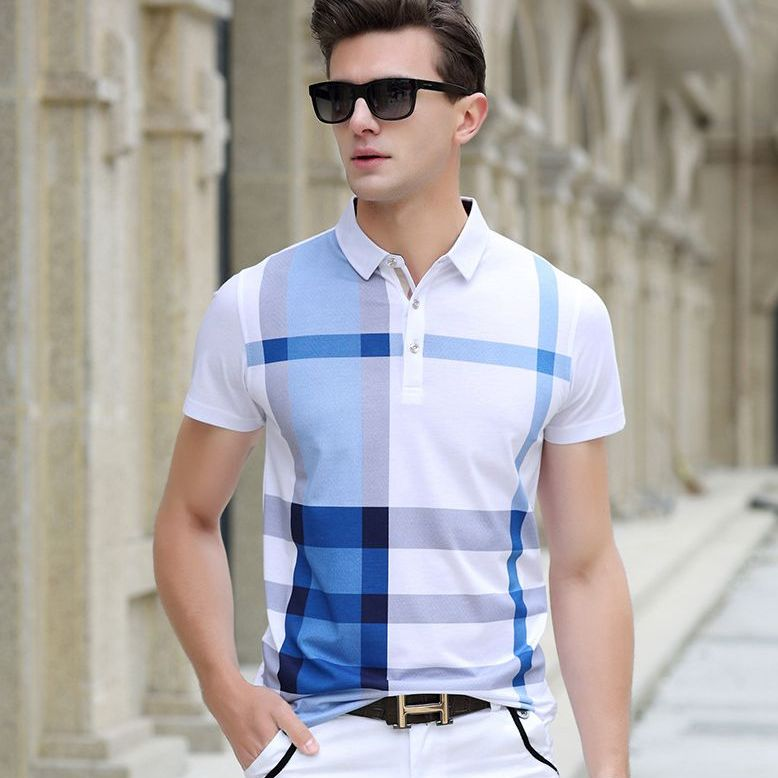 Men's Colorblock Short-Sleeve Shirt