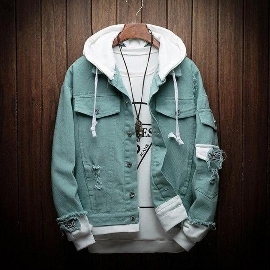 Men's Hooded Denim Jacket