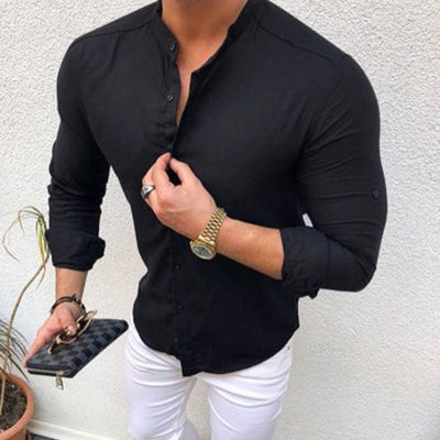 Men's Long-Sleeve Button-Down Shirt