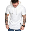 Men's Short-Sleeve Hooded T-shirt