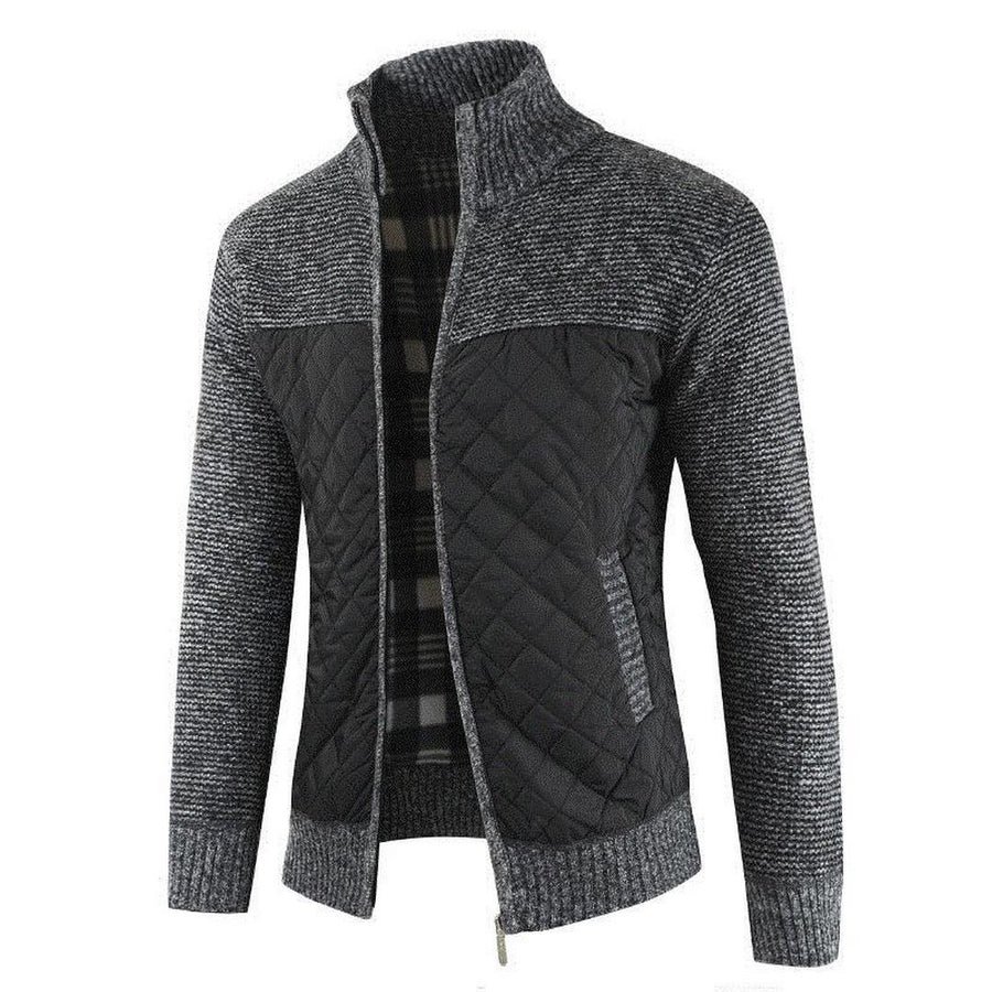 Men's Long-Sleeve Zip-Up Sweater