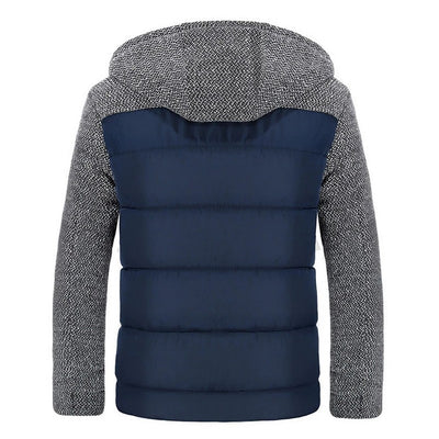 Men's Colorblock Hooded Jacket