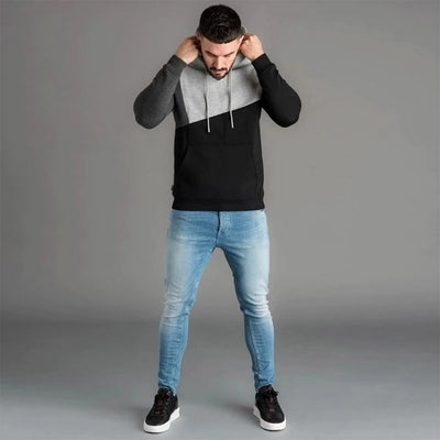 Men's Colorblock Long-Sleeve Hoodie