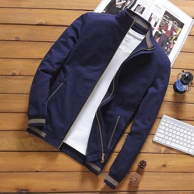 Men's Zip-Up Bomber Jacket