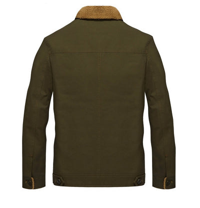 Men's Solid Button-Front Jacket