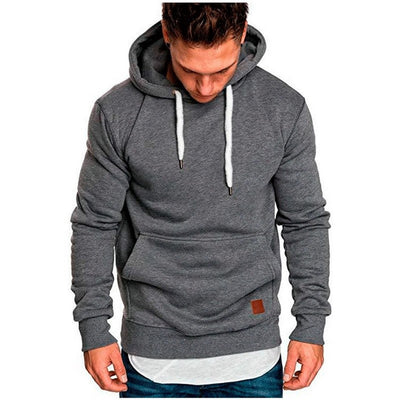 Men's Casual Long-Sleeve Hooded Sweatshirt