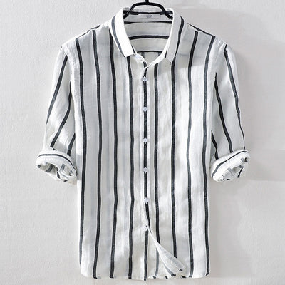 Men's Linen Short-Sleeve Shirt