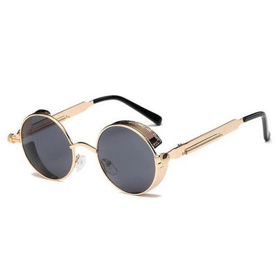 Men's Steampunk Round Sunglasses