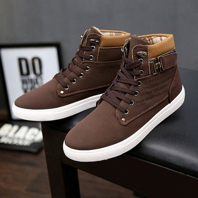 Men's High Top Lace-Up Sneakers